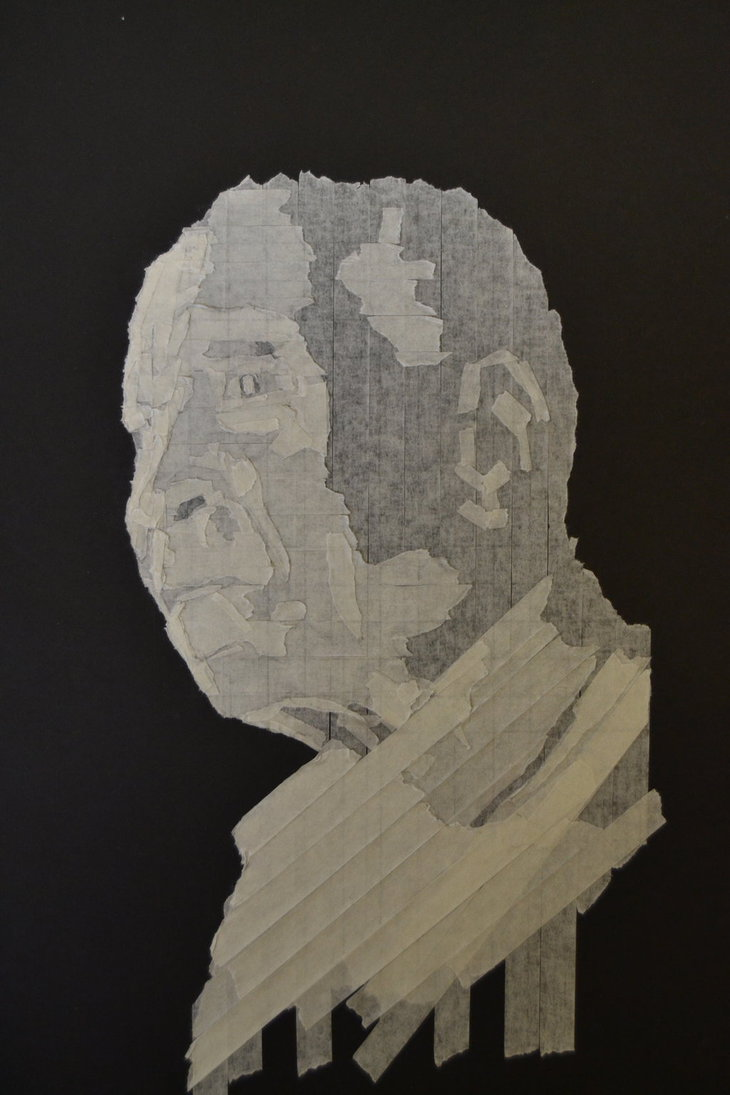 730x1095 Masking Tape Drawing New Style 2. By Ben Bsw Wade