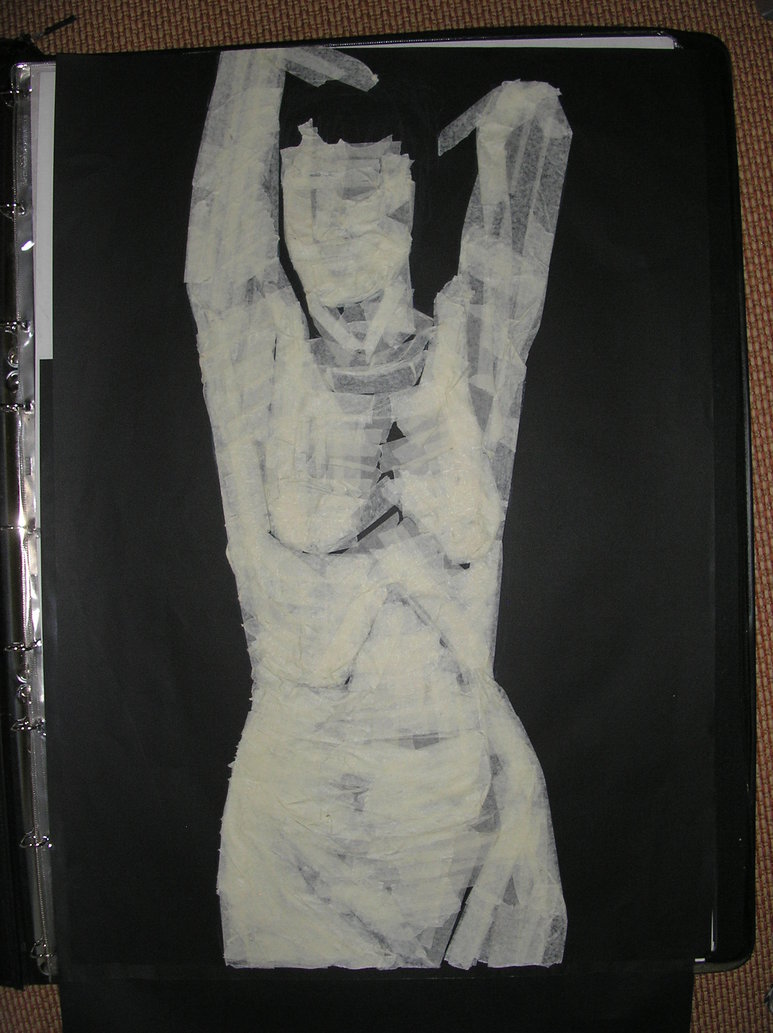 773x1033 My Creationexperiment Masking Tape Drawing 2008 By Ben Bsw Wade