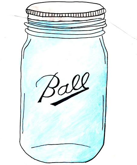453x544 Mason Jar Art With Sketch Pens Amp Silhouette Giveaway Jar, Studio