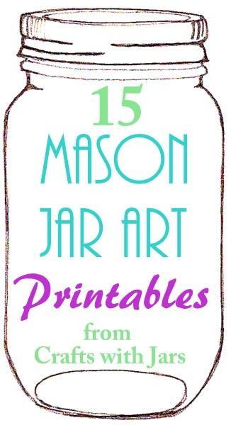 Free Mason Jar Template Tag Pinterest