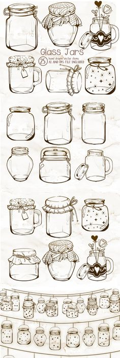 photo relating to Mason Jar Printable called Mason Jar Drawing Template at  Cost-free for