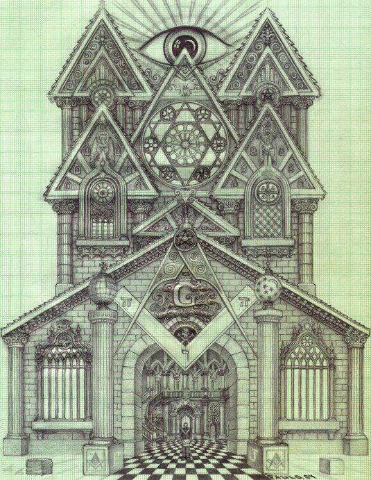 535x691 Masonic Cathedral By ~iamwhoiwasnot Masonic Drawing