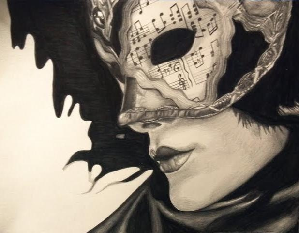 618x481 Masquerade Mask Drawing