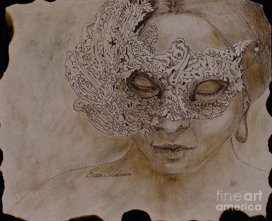 900x732 Masquerade Drawing By Portraits By Nc