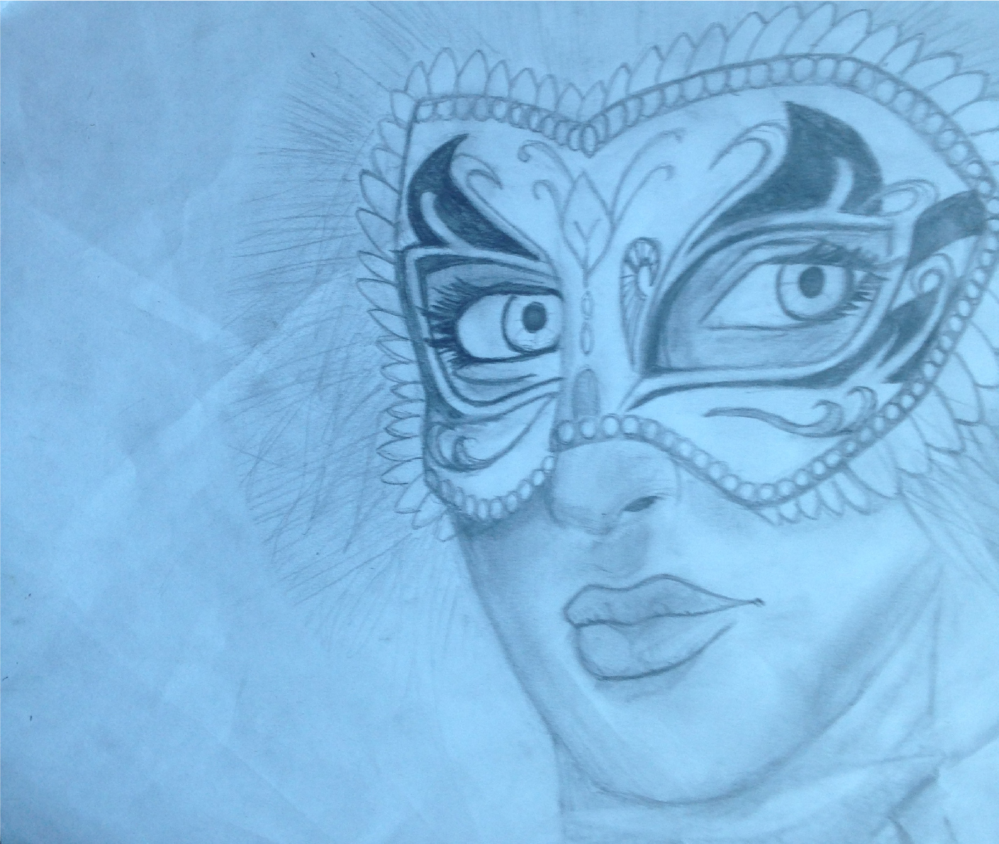 1428x1206 Masquerade Mask Drawing. The Inspiration To Draw This Image Came
