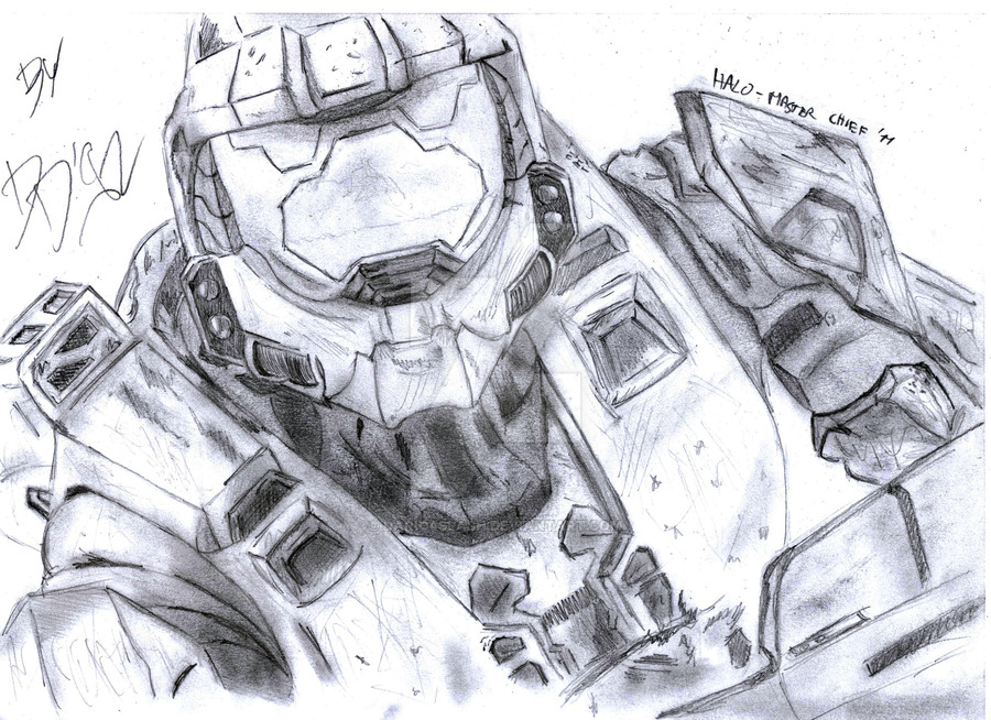 Master Chief Drawing At Getdrawings Com Free For Personal