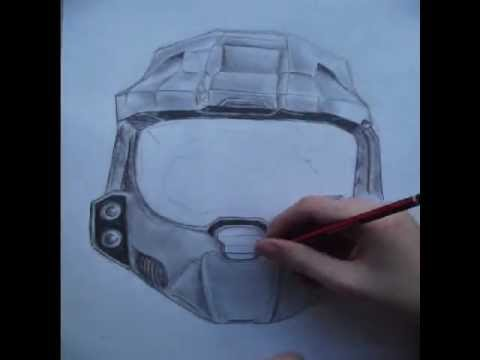 480x360 Master Chief Helmet Drawing Timelapse