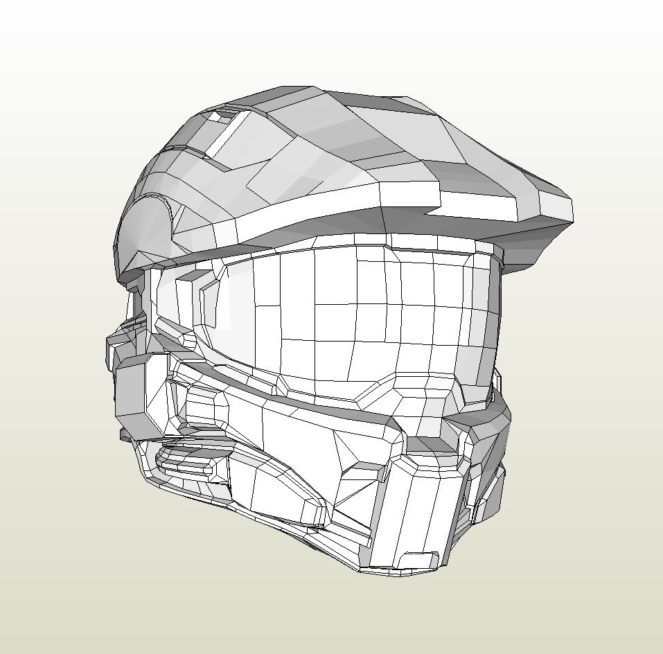 957x944 Papercraft Pdo File Template For Halo 4