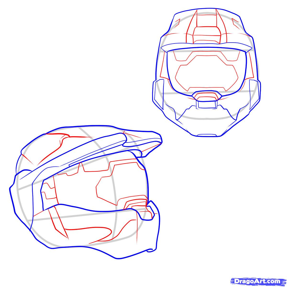 1200x1200 Themes Master Chief Helmet Drawing In Conjunction With How