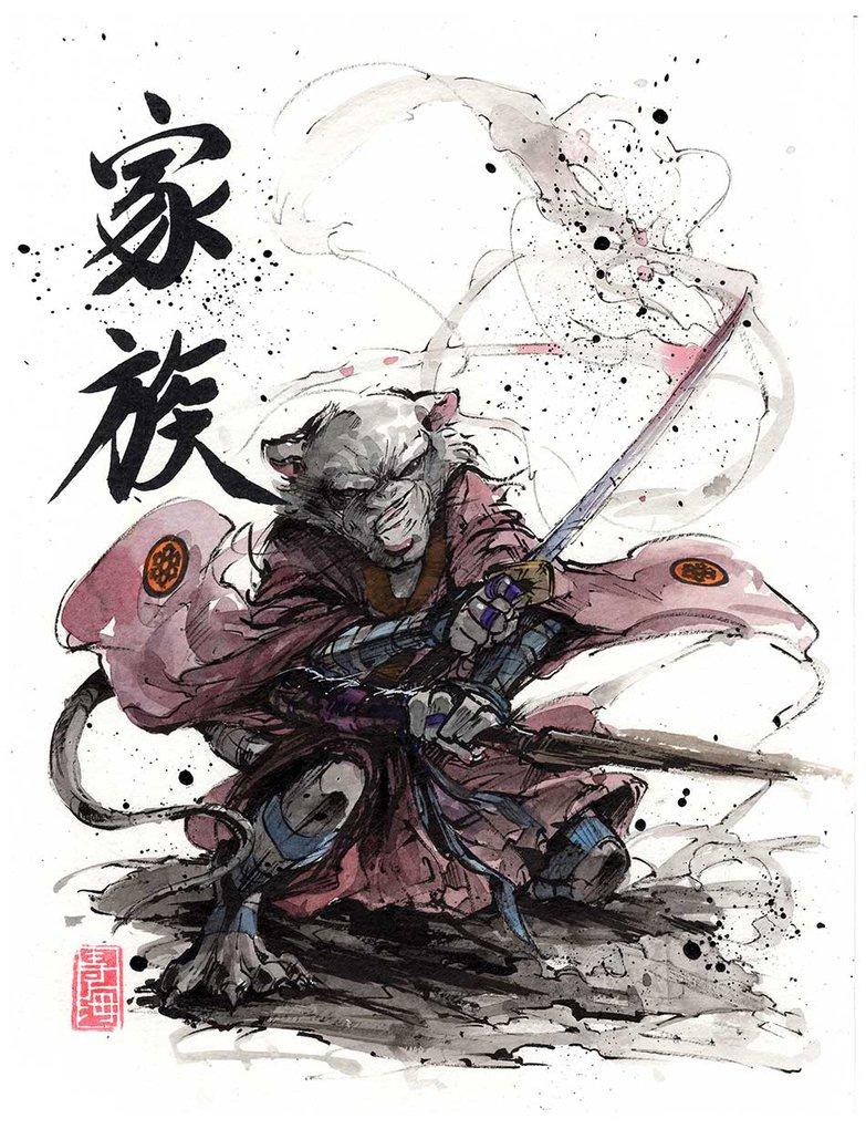 783x1020 Master Splinter Sumi And Watercolor By Mycks
