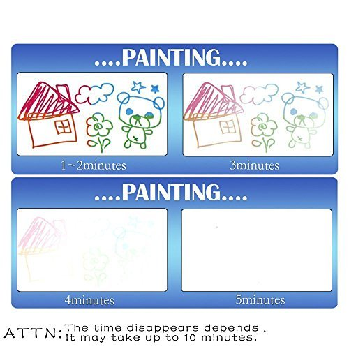 500x500 Aqua Doodle Mat 4 Colors Magic Water Drawing Mat Book Board Magic