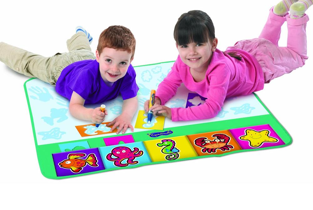 1000x672 Children Aquadoodle Rainbow Matwhiteboard Pen Stencil N Aqua Draw