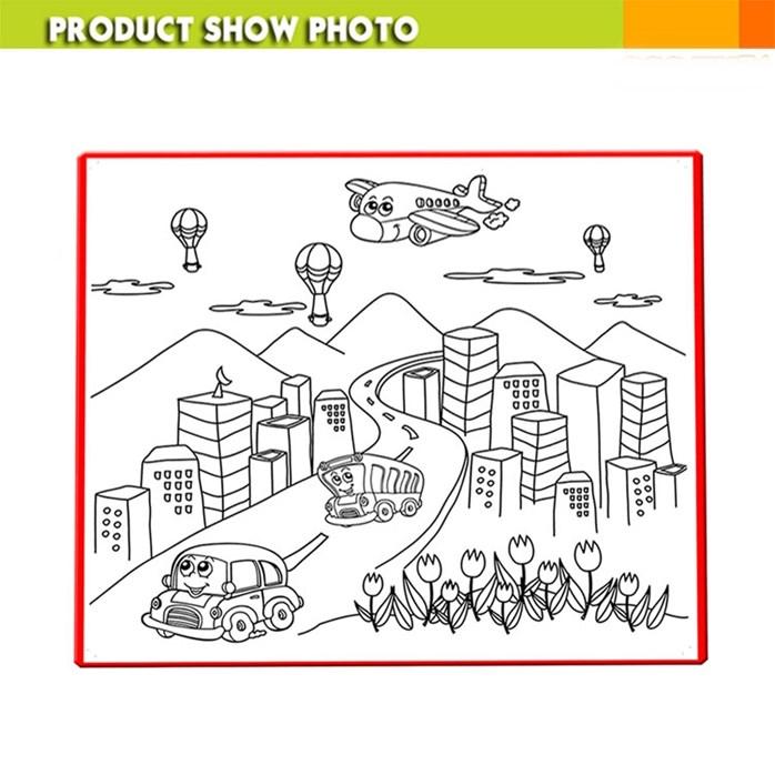 698x698 Fantastic Colour Drawing Mat Kids Colouring World Map 50cm X 50cm