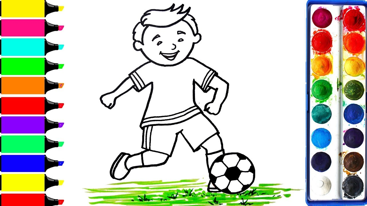 1280x720 Football Player Coloring Pages Art Colors For Kids Draw