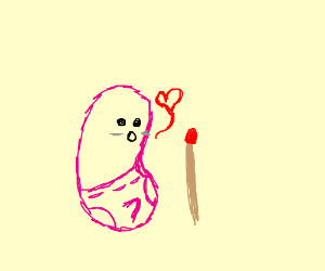 300x250 Pink Bean In Love With A Match