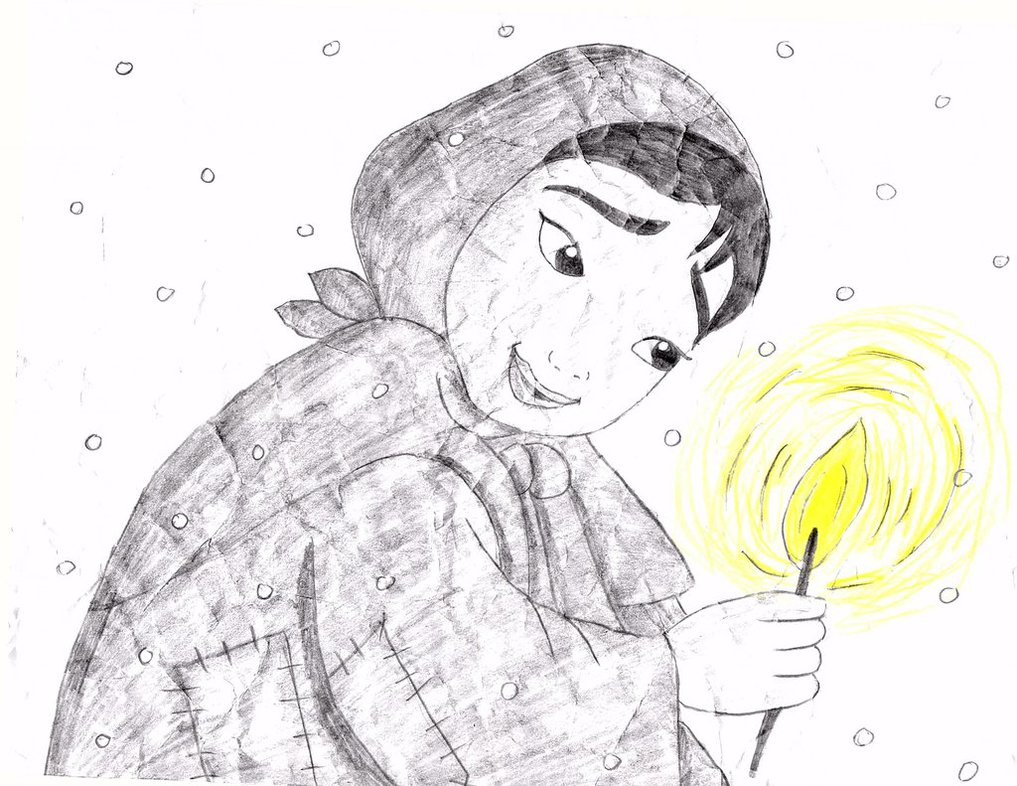 1017x786 The Little Match Girl Drawing By Julietcapulet432