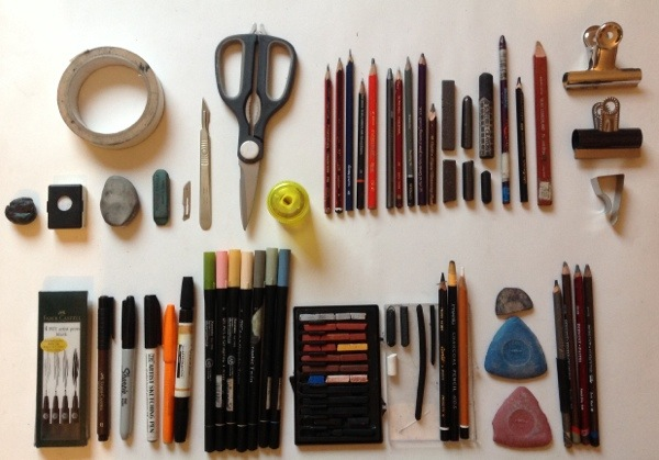 600x419 Chriswoodartist Drawing Materials Wet And Dry Media