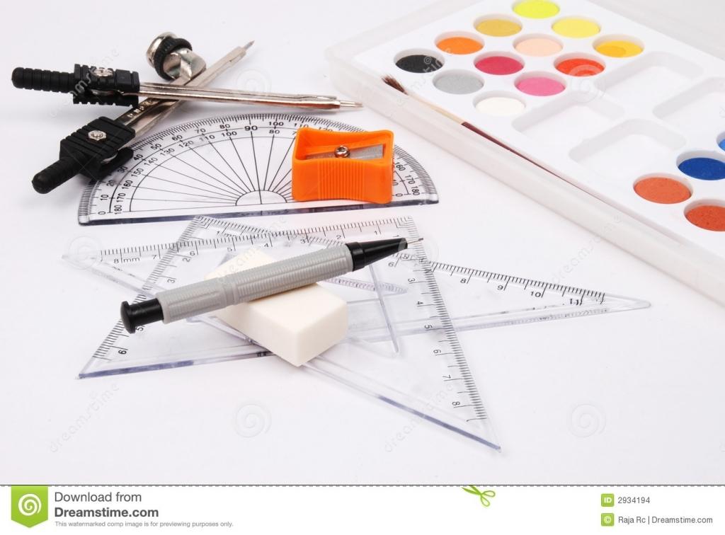 1024x756 Pencil Drawing Materials Drawing Materials Stock Photo Image