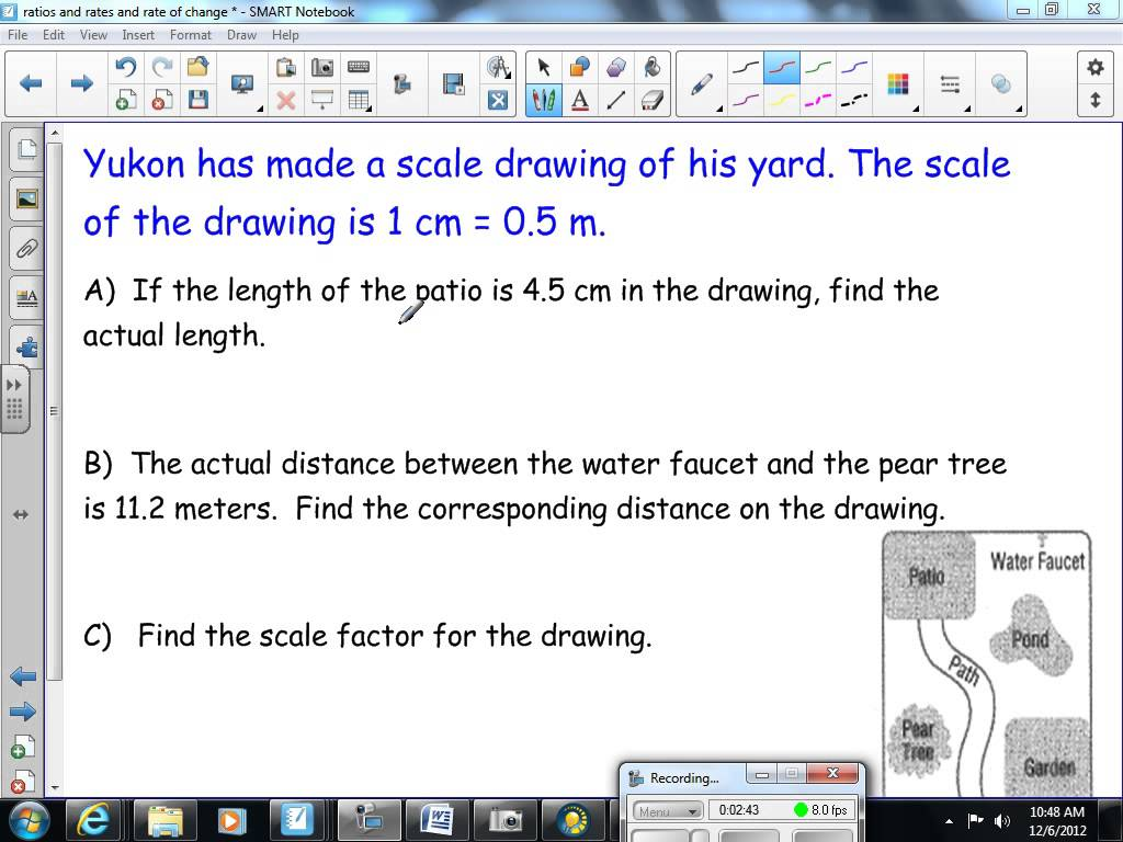 1024x768 Scale Factor And Scale Drawings 8th Grade Math