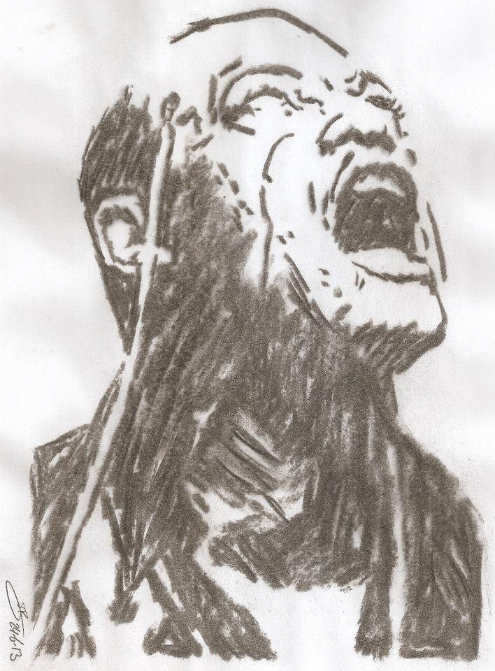 708x960 Morpheus Drawing Matrix Larry Fishburne By Sbdrawings