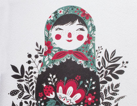 470x365 How To Draw A Russian Nesting Doll