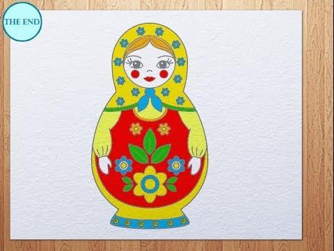 480x360 How To Draw Matryoshka (Russian Doll)