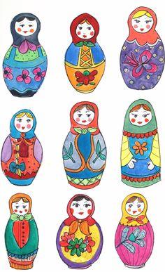236x387 Matryoshka Russian Nesting Doll. Vector Clip Art. Nesting
