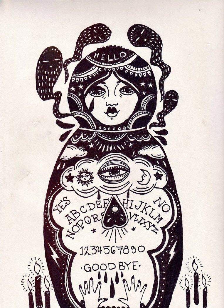 763x1047 Ouija Nesting Doll By Amberlinjeanne