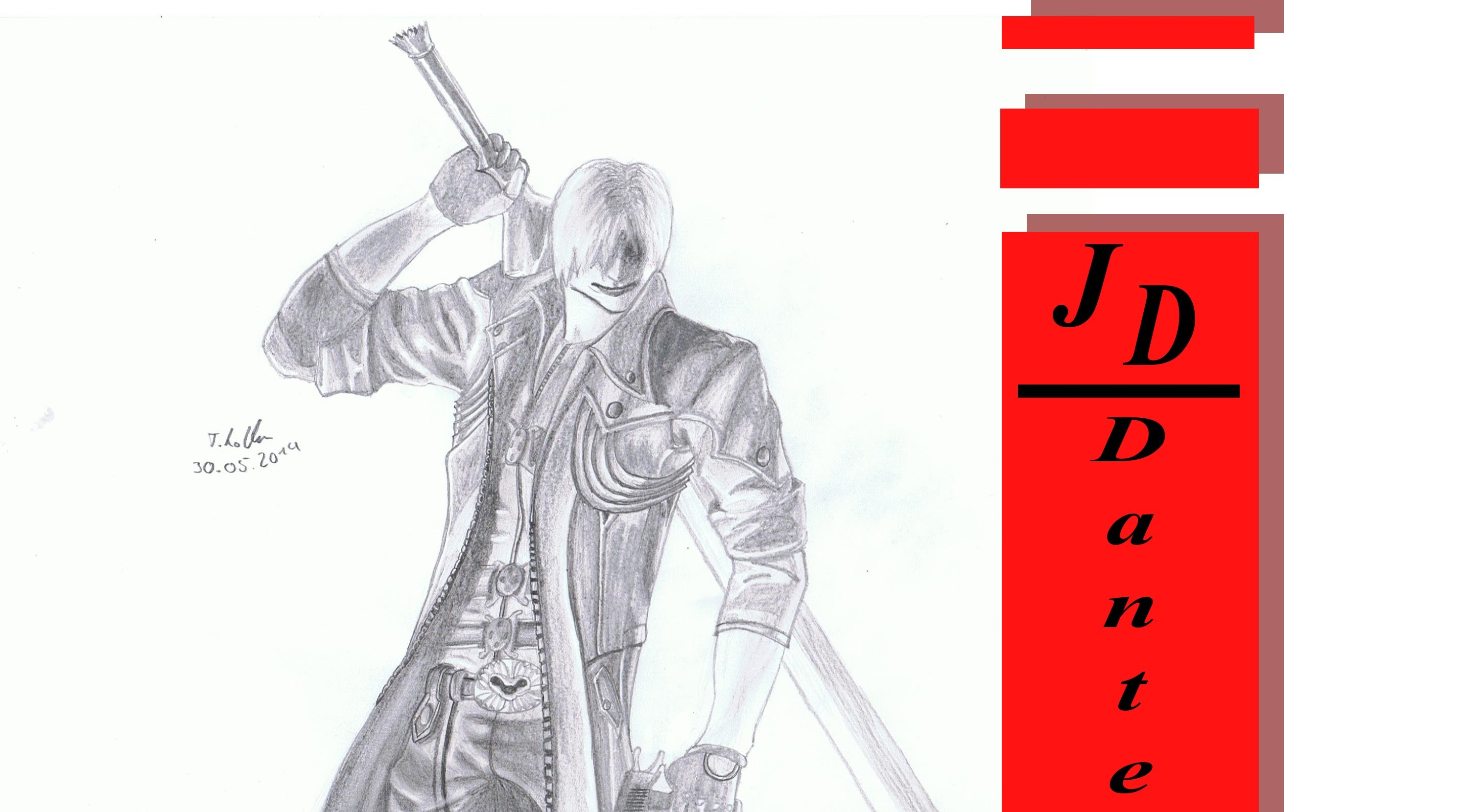 2988x1660 Devil May Cry Dante [Speed Drawing]