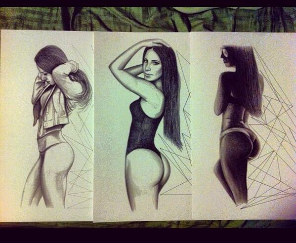 599x492 Jen Selter On Twitter Amazing Drawing From One Of My Followers