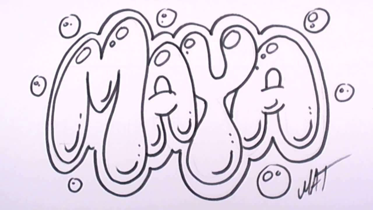 1280x720 Graffiti Writing Maya Name Design