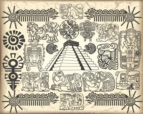 500x398 Maya And Aztec Vector Symbols