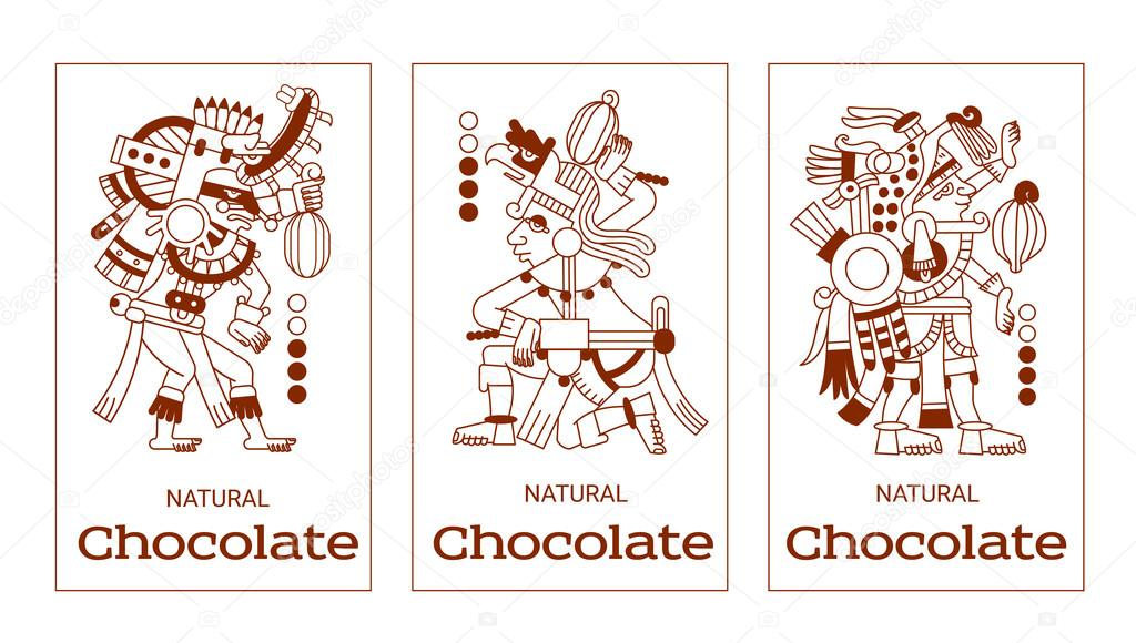 1024x580 Sketch Drawing Contour Pattern Maya, Aztec And Cacao Nibs, Choc