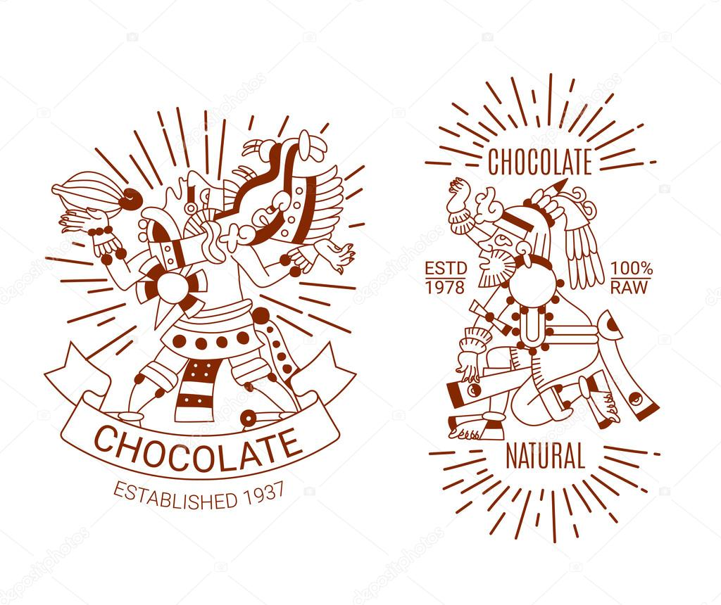 1024x860 Sketch Drawing Contour Pattern Maya, Aztec And Cacao Nibs, Choco