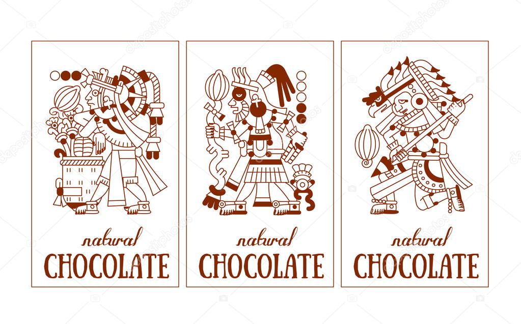 1023x637 Sketch Drawing Maya, Aztec And Cacao Nibs, Chocolate Logotype