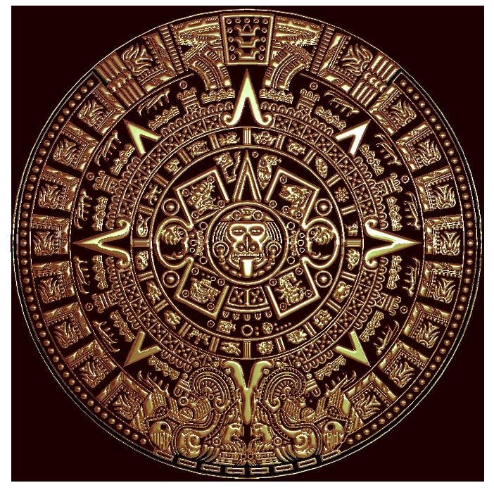 702x696 Maya Calendar Relief 2d 3d Relief Models Cnc Art