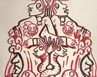 340x270 Mayan Drawing Etsy