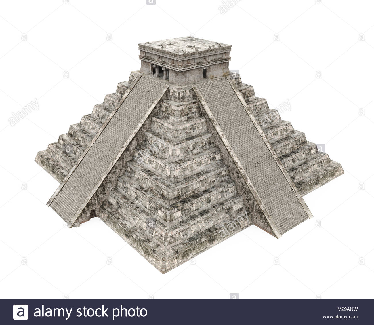 1300x1129 Mayan Pyramid Isolated Stock Photo 173539013