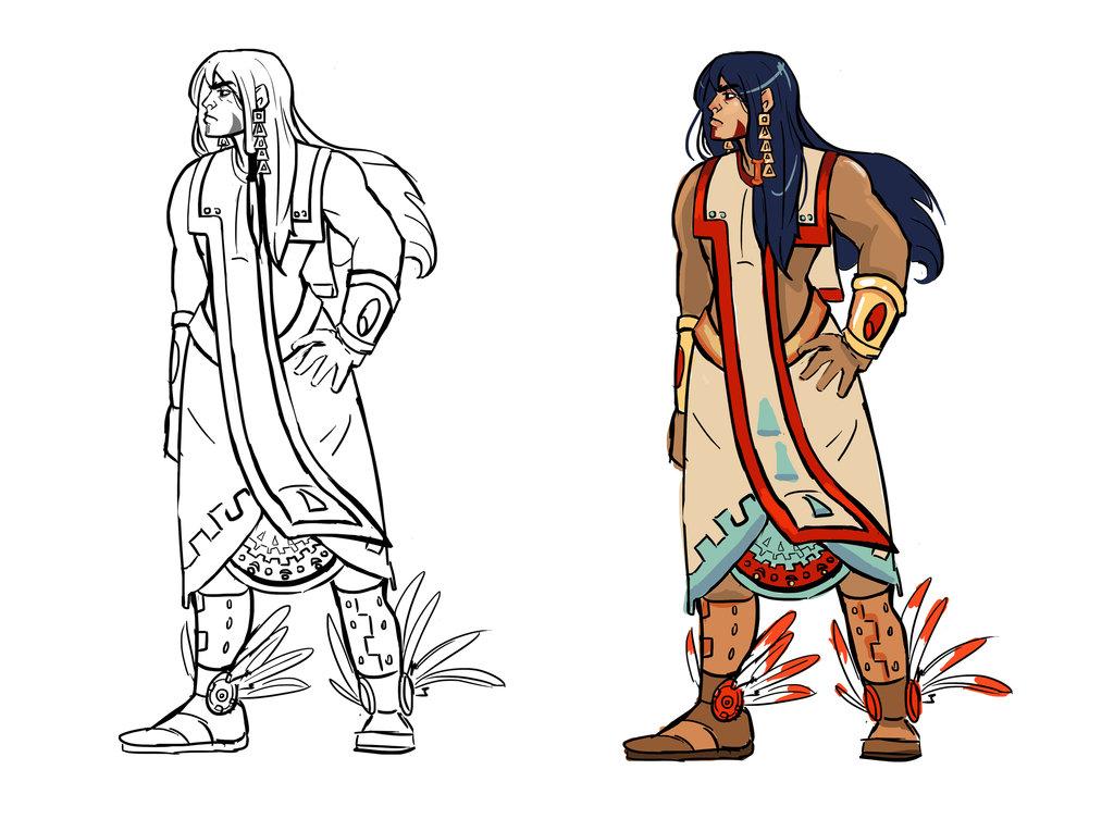 1024x753 Mayan Aztec Warrior By Sayuki16