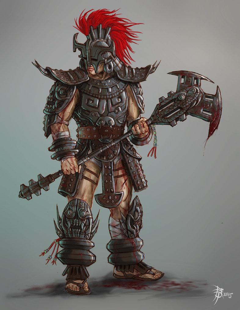 786x1017 Mayan Warrior Heavy Armor By Aopaul