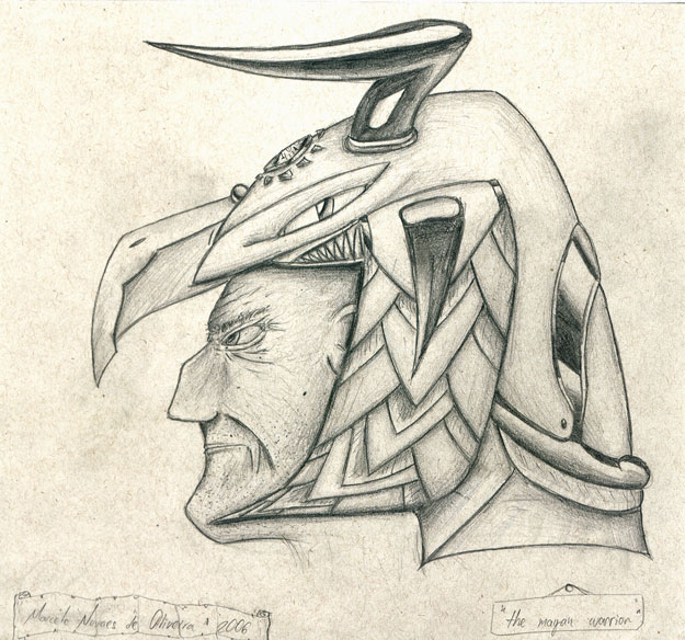 625x584 Mayan Warrior By Kdewolf