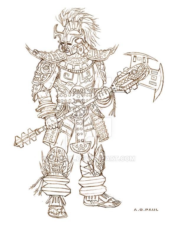 600x777 Mayan Warrior. Heavy Class. By