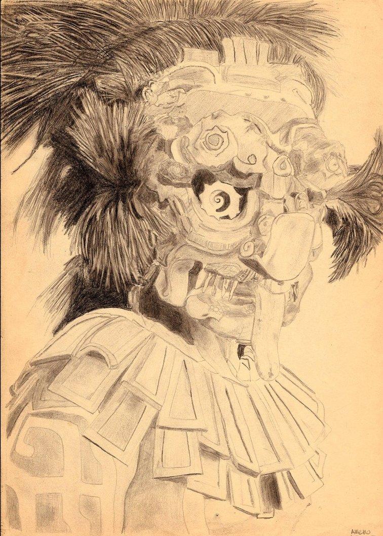 756x1057 Mayan Warrior By Aweno