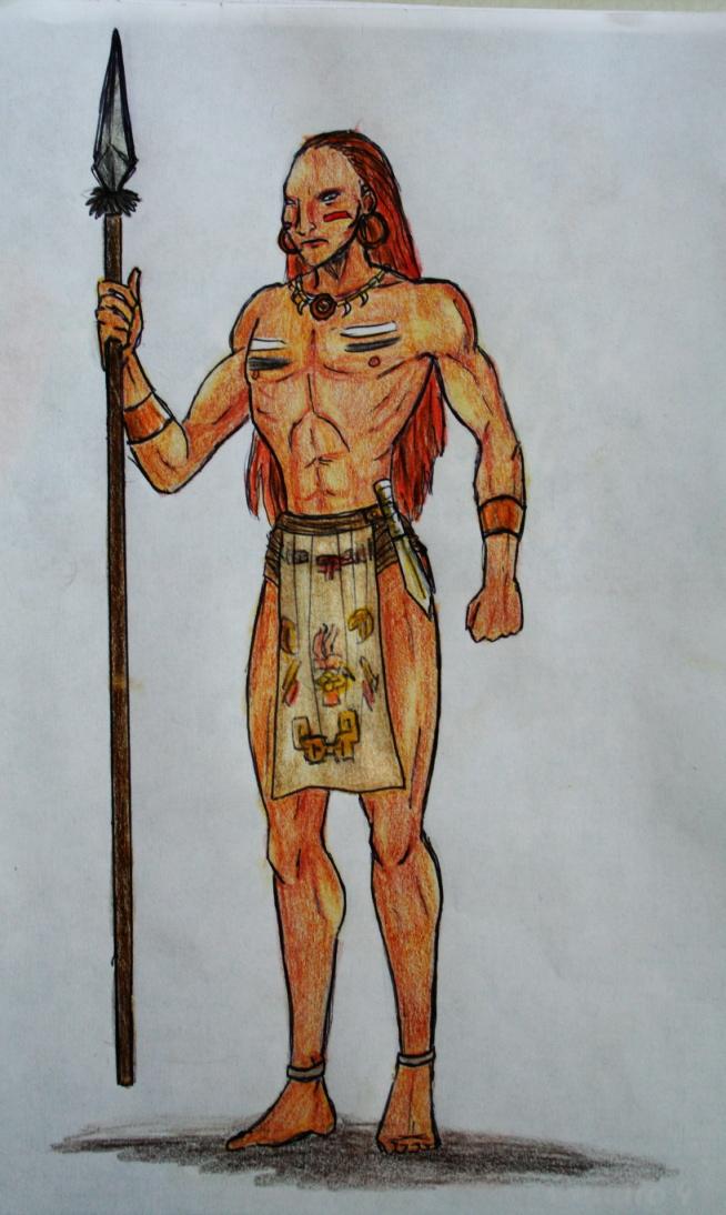 654x1094 Mayan Warrior By Shadeninja
