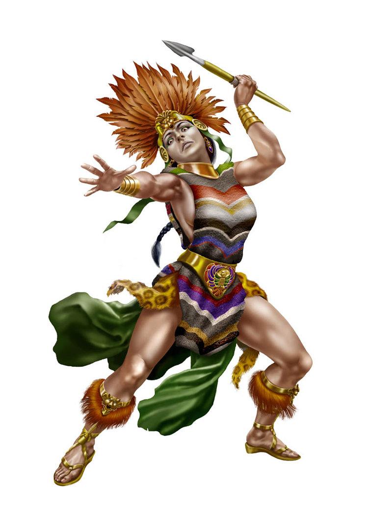 756x1057 Mayan Warrioress By Bernie53