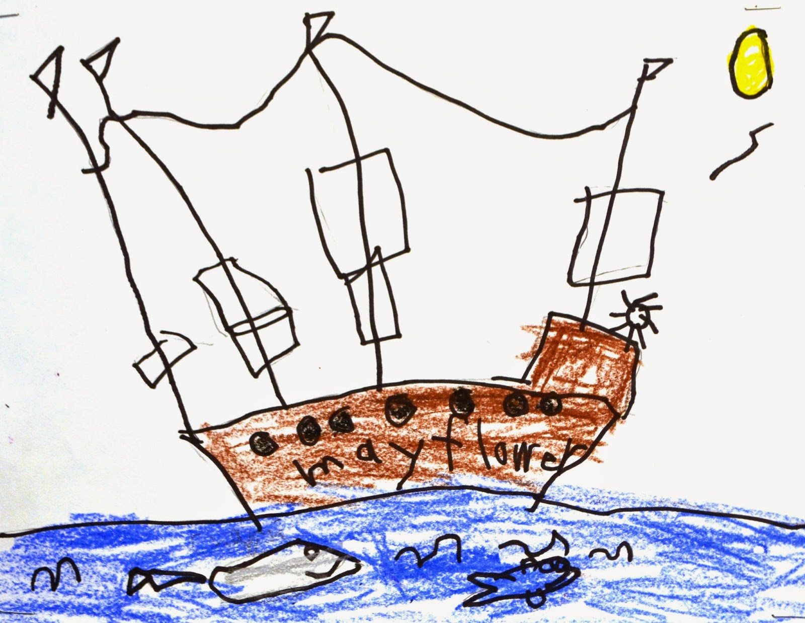 Mayflower Drawing