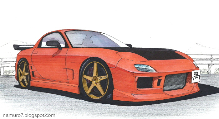 Mazda Rx7 Drawing at GetDrawings com | Free for personal use