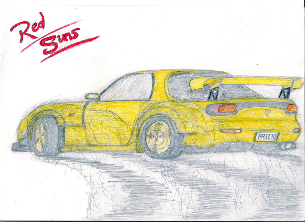 1024x745 Fd3s Mazda Rx 7 By Draw Over