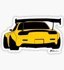 210x230 Mazda Rx7 Drawing Stickers Redbubble