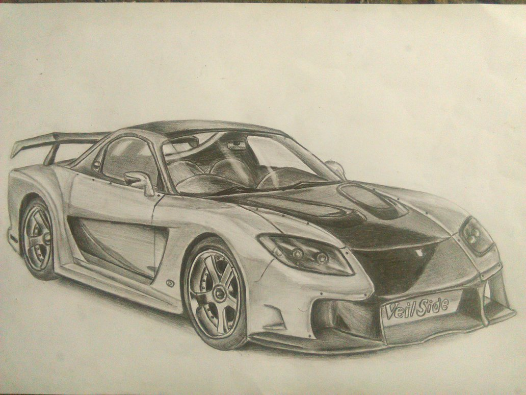 Mazda Rx7 Drawing At Free For Personal Use 1987 Rx 7 Engine Diagram 1032x774 Veilside By Ilidan10